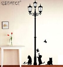 Popular Ancient Lamp Cats and Birds Wall Sticker Wall Mural Home Decor Room Kids