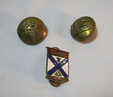 U.S. Military 169th Infantry Army Crest Pin & U.S. Medical Pin Lot T*
