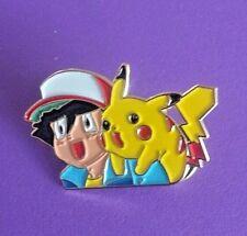 Pokemon Pikachu & Ash Anime Japanese Character Metal Pin - Free Shipping!
