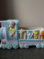 VTG 1950s Rubens Japan TRAIN Baby Nursery CERAMIC PLANTER.