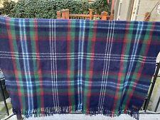 Pendleton Indian Blanket Cayuse Vintage plaid fringe wool AMAZING condition!