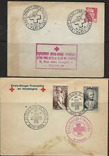 1946/1951 - Red Cross -France - 2 Red Cross Covers - Used -Scarce