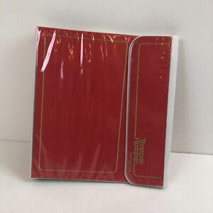 Vtg 80s RED/Gold Mead Trapper Keeper Notebook 3 Ring Binder Portfolio