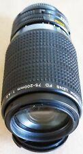 CANON FD 75-200mm f4.5 ZOOM MACRO Lens 'EXCELLENT' serial no (258284)