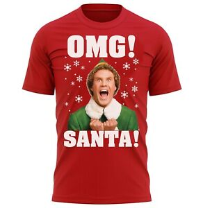 OMG SANTA! Elf Christmas Buddy T-Shirt Xmas Gifts For Men & Women