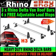(L4-LONG H3-HIGH) 3x MAN TGE Roof Rack Bars (NO T-TRACK) Rhino Delta 2017-2019