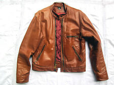 BLOUSON CUIR MOTARD 42 US CHAMPLAIN BIKER CAFE RACER LEATHER JACKET LEDERJACKE