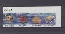 cook islands 1980/2 Sc 565 coral,strip of four imperf,MNH         m2142