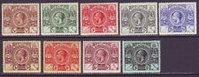 Bermuda 1921 SC 70-79 MH Set Tercentenary