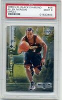 Allen Iverson - 1998 UD Black Diamond Single #66 SP 1500 NBA HOF MVP - PSA 9