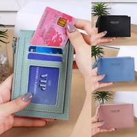 Womens Mens Wallet Leather Zip Coin Purse Clutch Handbag Small Mini Card Holder