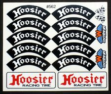 RC Car Decals, 1/10th, 1/8th Hoosier tire, Late Models, Street Stocks, Oval #562