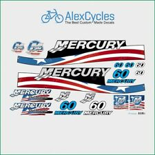 MERCURY Marine 60 HP Outboadrs Motor USA Laminated Decals Boat Kit Stickers