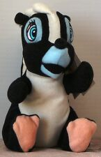 "Nwt Disney Flower the Skunk from Bambi Bean Bag w. tag 7"" Plush"