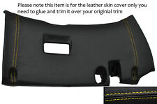 YELLOW STITCH LOWER DASH PANEL TRIM LEATHER COVER FITS TOYOTA SUPRA MK4 93-02
