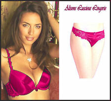Classic Pink Push up Plunge Double Inserts Bra 34B Thong 10 Set RRP: £36