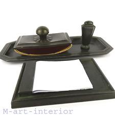 Just Andersen Schreibtisch Garnitur Disko Metal Desk Set Denmark Art Deco 1930