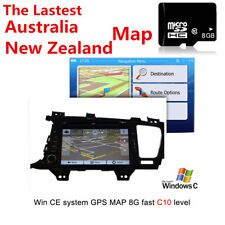 Australia New Zealand Map 8G micro SD card GPS Navigation maps for WIN CE system