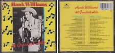 HANK WILLIAMS SR. 40 Greatest Hits 1988 2 CD Set Country Classic Great Anthology
