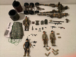 1:18 Blue Box Soldier 21st Century Toys WWII figure guns Cannon weapons Lot X