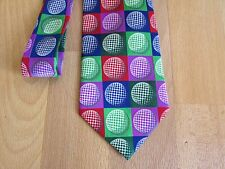 Bright Various Coloured possibly Golf Ball Images Tie by Tin Can Man