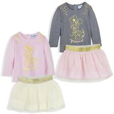 Disney Minnie Mouse Baby Girls Outfit Clothes Set Long Top and Skirt 9-36 Months