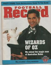Football Record 1996 MELBOURNE vs COLLINGWOOD round 10 has ink Queens Birthday