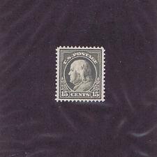 Sc# 418 Unused Og Lh 15 Cent Benjamin Franklin, 1912, Extra Fine.