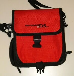 Carrying Case Bag with Strap for Nintendo DS — red