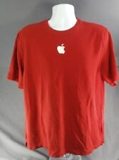 APPLE COMPUTER MAC MACINTOSH Embroidered official TEE T SHIRT Sz Mens XL Red