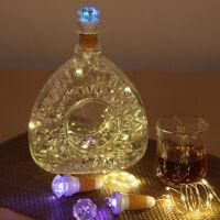 Diamond Shape USB Rechargeable LED Light Cork Stopper Wine Bottle Party Lamp