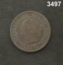 1859 CANADA LARGE CENT XF! #3497
