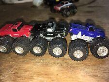 6 Micro Machines Monster Trucks - Bearfoot - Taurus - Excalibur - Vintage 80's