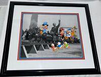 Disney Cel Mickey Minnie Mouse Walt's Train Rare Animation Edition Cell