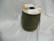 OD GREEN 550 CORD PARA CORD TYPE III  US MILITARY ISSUE 1200 FT SPOOL ROLL