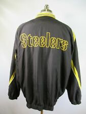 E5483 VTG 90s Pittsburgh Steelers NFL Football Pullover Jacket Size XL