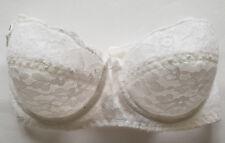 BH damen Gr. 60 D bh Dessous Vollschale mit Spitze in Weiß Brautdessous