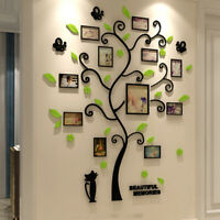 3D Acrylic Crystal Tree Wall Stickers Home Office Picture Showing Borad Sticker