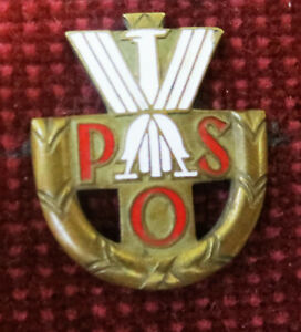 POLAND POLISH STATE SPORTS BADGE – 3rd CLASS by A. NAGALSKI WARSAW 1930 - 39