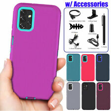 For Samsung Galaxy A32 5G Case Shockproof Rugged Armor Phone Cover + Accessories