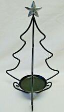 "Longaberger Wrought Iron Christmas Tree Candle Holder 14"" Tall"