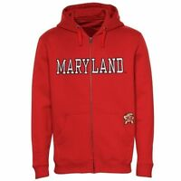 Maryland Terrapins Hoodie 2XL Stitched Full Zip Specialty Double Logos NCAA