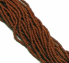 Brown Opaque Czech 8/0 Glass Seed Beads  70 Grams Loose Beads Preciosa