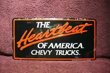 REPRODUCTION HEARTBEAT LICENSE PLATE DISPLAY SIGN GARAGE MAN CAVE ACCESSORY