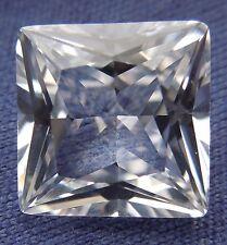 Princess 10x10 mm 5.5 ct VVS D Real White Sapphire Brilliant Solitaire Cut Stone
