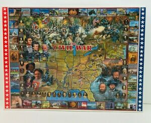 The Civil War 24X30 1000 Piece Jigsaw Puzzle White Mountain 1999 Made In USA