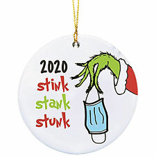 3inch Stink Stank Stunk 2020 Ornament Round Hanging Pendant For Xmas Tree Gift