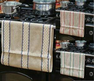 Aga Roller Towel With Poppers Fastening Range Aga Rayburn 500gsm 100% Cotton