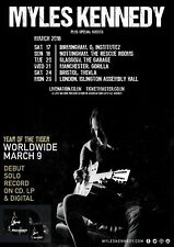 MYLES KENNEDY 2018 UK CONCERT TOUR POSTER-Metal, Blues / Hard Rock, Alter Bridge
