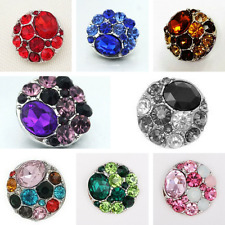 Noosa Style Snap Button Chunks Charms Various Colour Rhinestone Buttons 20mm